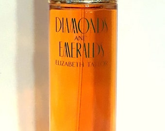 Vintage 1990s Diamonds and Emeralds by Elizabeth Taylor 3.4 oz Eau de Toilette Spray PERFUME
