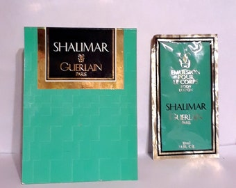 Vintage 1980s Shalimar by Guerlain 0.34 oz Perfumed Body Lotion Sample Packet on Card