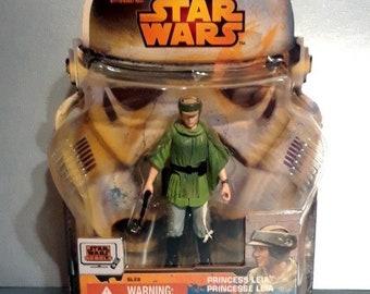 "Star Wars Princess Leia (Endor)3.75"" Action Figure on Card"