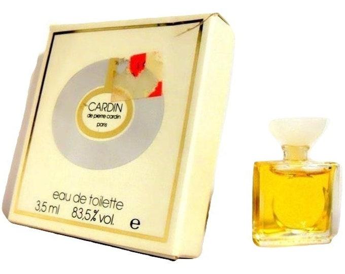 Vintage 1970s Cardin de Pierre Cardin 0.11 oz Eau de Toilette Miniature Mini Bottle and Box PERFUME