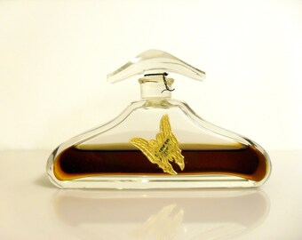 Rare Antique 1920s Juneve by Reval Langlois Pure Parfum Czech Crystal Art Deco Bottle Butterfly Label PERFUME