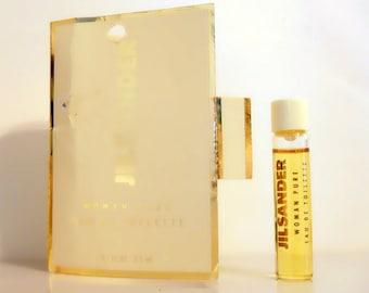 Vintage 1990s Jil Sander Woman Pure 0.1 oz Eau de Toilette Sample Vial on Card PERFUME