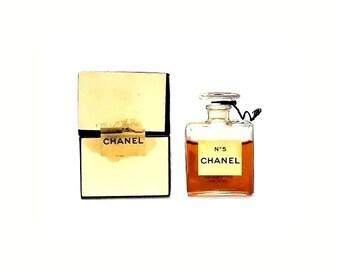 Vintage 1950s Chanel No 5 by Chanel 0.25 oz Parfum Splash Mini Perfume Miniature Perfume4