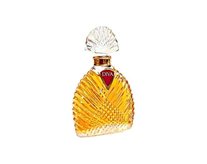 Vintage 1980s Diva by Ungaro 0.5 oz (15 ml) Pure Parfum Splash Crystal Bottle PERFUME Original Formula