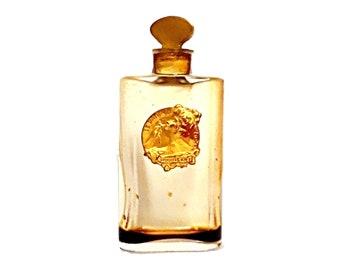 Antique 1920s Ideal by Houbigant Parfum Miniature Mini Perfume Crystal Baccarat Bottle VINTAGE Extrait