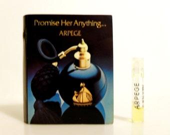 Vintage 1980s Arpege by Lanvin 0.02 oz Eau de Toilette Sample Vial on Card PERFUME
