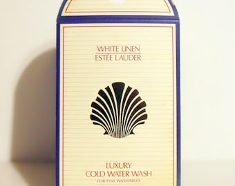 Vintage 1990s White Linen by Estee Lauder .20 oz Luxury Cold Water Wash Sample Packet