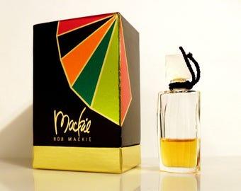 Vintage 1990s Mackie by Bob Mackie 0.17 oz Pure Parfum Miniature Mini and Box PERFUME