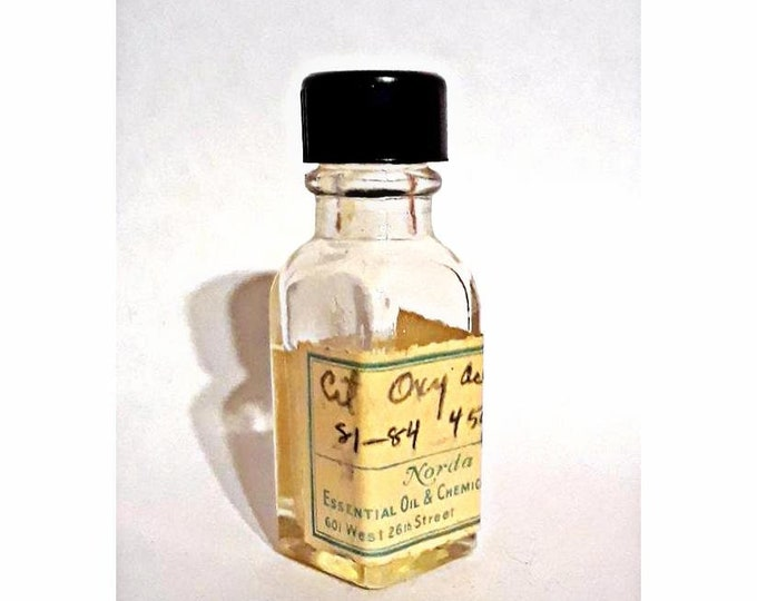 Vintage 1930s 5ml Citronellyl Oxyacetaldehyde  PERFUME BASE Honeysuckle Muguet Fragrance Creation Essential Oil Perfumery Making