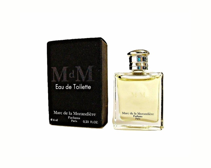 Vintage 1990s M de M (Black) by Marc de la Morandiere 0.20 oz Eau de Toilette Mini Miniature Cologne and Box Original Formula