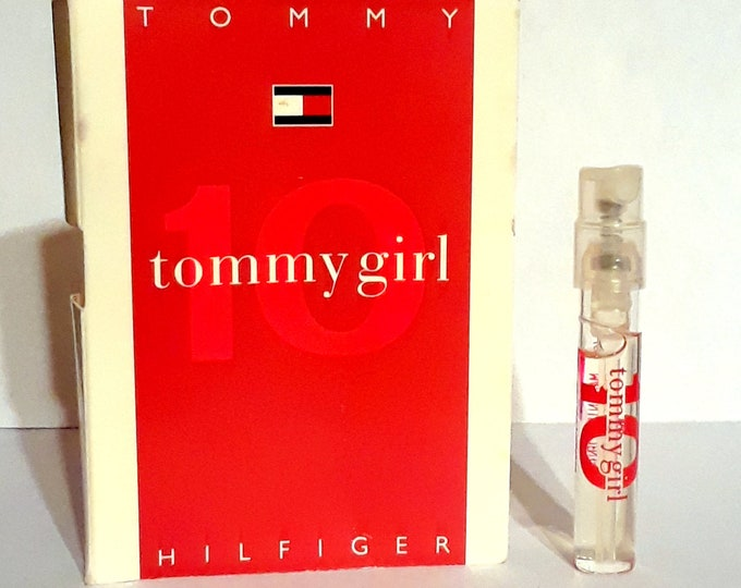 Tommy Girl 10 by Tommy Hilfiger 0.05 oz Toilette Spray Sample Vial on Card PERFUME