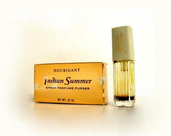 Vintage 1970s Indian Summer by Houbigant 0.37 oz Pure Parfum Spray and Box PERFUME