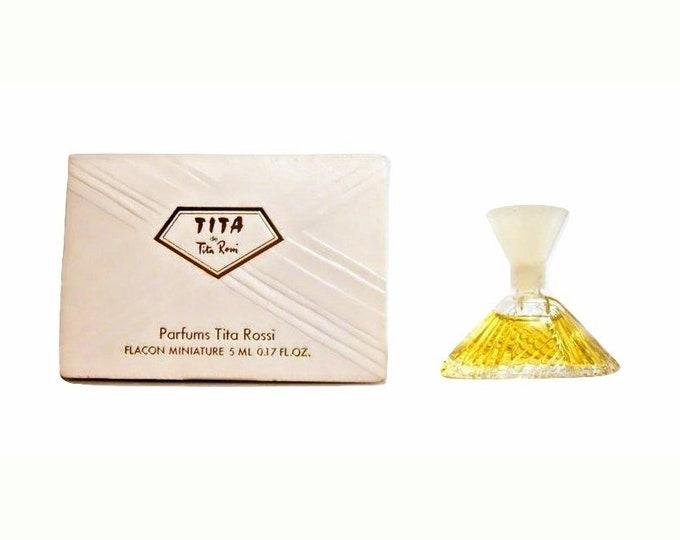 Vintage 1980s Tita de Tita Rossi 0.17 oz Parfum Mini Miniature PERFUME