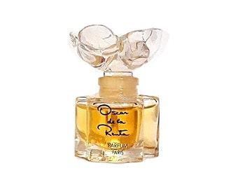 Vintage Perfume 1980s Oscar by Oscar de la Renta 0.25 oz (7.5ml) Pure Parfum Splash Crystal Flacon