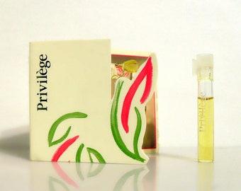 Vintage 1980s Privilege by Parfums Privilege 0.037 oz Parfum Splash Sample Vial PERFUME