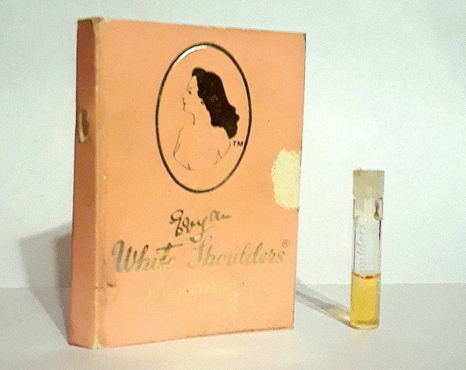 Vintage 1970s White Shoulders by Evyan Cologne Sample Vial on Card PERFUME