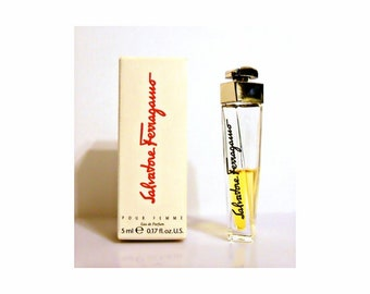 Vintage 1990s Salvatore Ferragamo pour Femme 0.17 oz Eau de Parfum Mini Miniature PERFUME