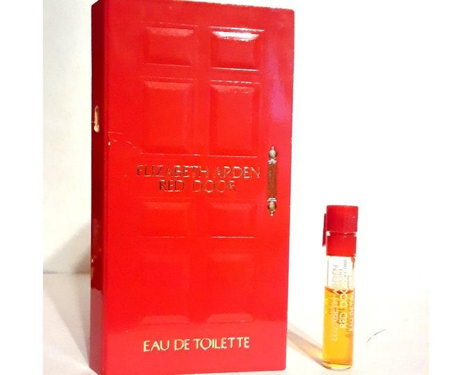 Vintage 1990s Red Door by Elizabeth Arden 0.027 oz Eau de Toilette Sample Vial on Card PERFUME