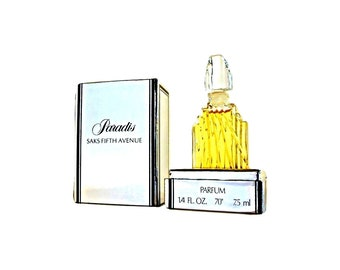 Vintage 1980s Paradis by Saks Fifth Avenue 0.25 oz Pure Parfum and Presentation Box PERFUME