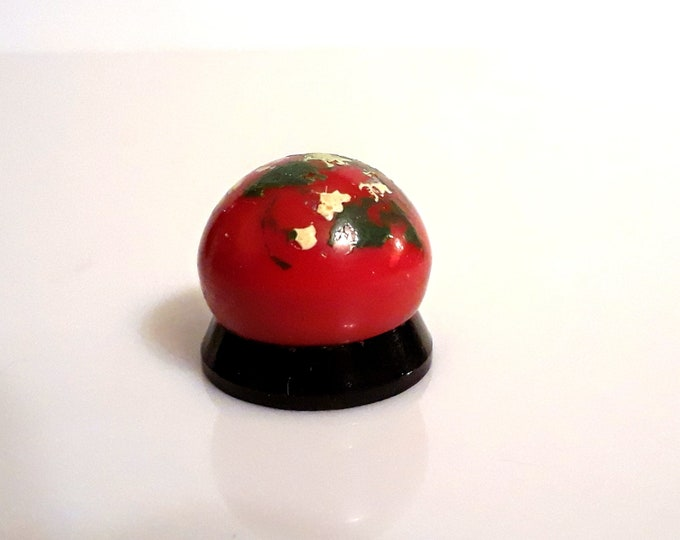 Antique Art Deco Bakelite 1940s Orval by Molinard Concreta Vintage Hand Painted Catalin Galalith Solid Perfume Pot