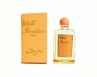 Vintage 1950s White Shoulders by Evyan Cologne Splash and Box PERFUME