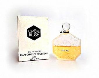 Vintage 1980s Ombre Rose by JC Brosseau 2.5 oz Eau de Toilette Splash & Box Alfin Original Formula PERFUME
