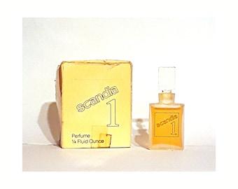 Vintage 1970s Scandia 1 by Scandia 0.25 oz (7.5ml) Pure Parfum Splash Perfume Bottle with Box