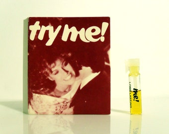Vintage PERFUME 1970s Me by Coparel Long Lasting Cologne Sample Vial on Card