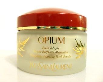Vintage 1990s Opium by Yves Saint Laurent 5.2 oz Voluptuous Foaming Bath Powder
