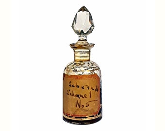 Antique Attar 1920s Chanel No. 5 Type by Mohamed Ennifar 0.5 oz Pure Parfum Tunisia Perfume Ittar Czech Glass Bottle Aldehydic Floral