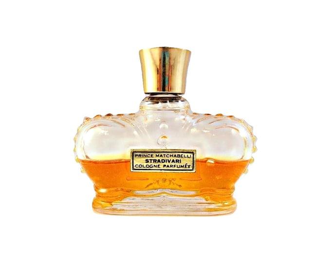 Vintage 1950s Stradivari by Prince Matchabelli 1 oz Cologne Parfumee Crown Bottle PERFUME