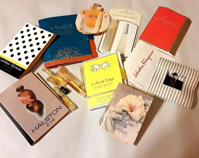Vintage Perfume Sample Lot of 16 Assorted Brands Men's Women's Fragrance Samples
