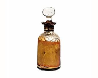 Antique Attar 1920s Ambar by Mohamed Ennifar 0.25 oz Pure Parfum Tincture Tunisia Perfume Ittar Czech Glass Bottle Ambergris Amber