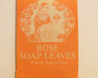 Vintage 1970s Rose by Crabtree and Evelyn Scented Soap Leaves in Packet