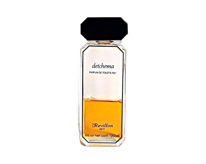 Vintage 1970s Detchema by Revillon 4 oz (120ml) Parfum de Toilette Splash Discontinued Perfume