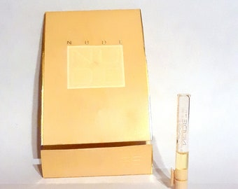 Vintage 1990s Nude by Bill Blass 0.02 oz Cologne Sample on Card PERFUME