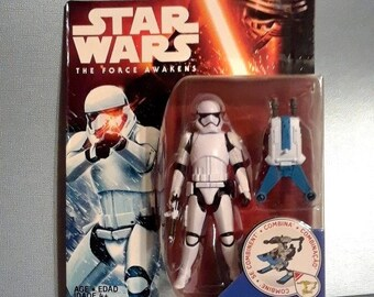 "Star Wars First Order Stormtrooper 3.75"" Action Figure on Card Force Awakens"