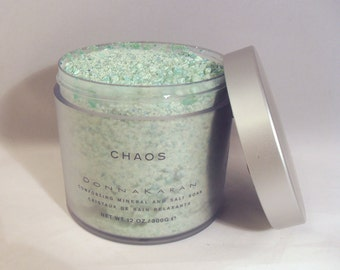 Vintage 1990s Chaos by Donna Karan 12oz/300g Comforting Mineral And Salt Soak