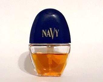 Vintage 1990s Navy by Cover Girl 0.30 oz Cologne Spray Mini Miniature Purse Spray PERFUME