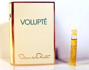 Vintage 1990s Volupte by Oscar de la Renta 0.05 oz Eau de Toilette Sample Vial PERFUME