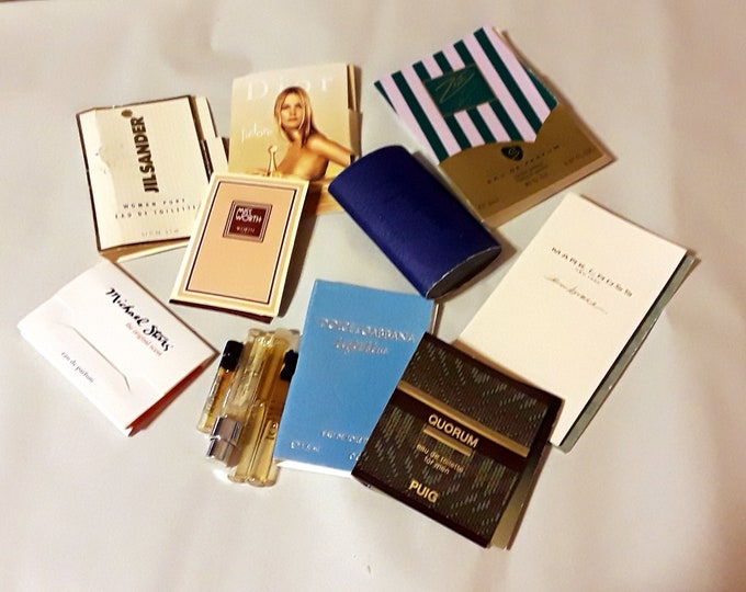 Vintage Perfume Sample Lot of 13 Assorted Brands Men's Women's Fragrance Samples