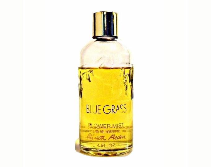 Vintage 1960s Blue Grass Flower Mist by Elizabeth Arden 4 oz Eau de Toilette Splash Original Formula PERFUME