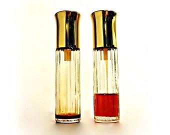 Pair Vintage 1960s Jungle Gardenia by Tuvache 0.5 oz Pure Parfum Spray DISCONTINUED Formula Perfume