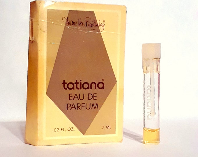 Vintage 1970s Tatiana by Diane von Furstenberg 0.02 oz Eau de Parfum Sample Vial on Card PERFUME
