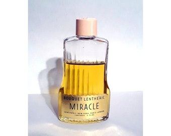 Vintage 1940s Miracle by Lentheric 2 oz Bouquet Lentheric Cologne Splash Discontinued Perfume