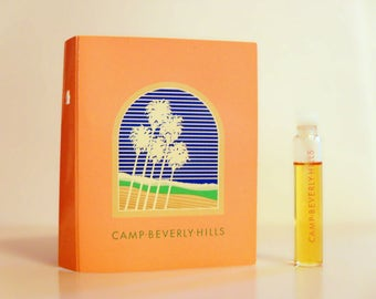 Vintage 1980s Camp Beverly Hills by Colonia Sample Vial on Card PERFUME