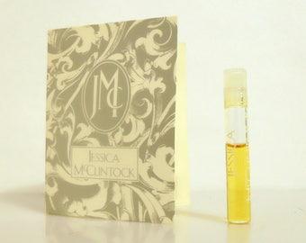 Vintage 1980s Jessica McClintock by Jessica McClintock Sample Vial on Card PERFUME