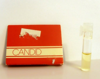 Vintage 1980s Candid by Avon 0.02 oz Ultra Cologne Sample Vial on Card PERFUME