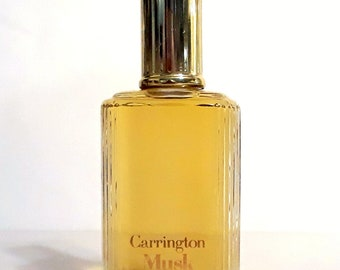 Vintage Mens Fragrance 1980s Carrington Musk 1 oz Eau de Cologne Splash