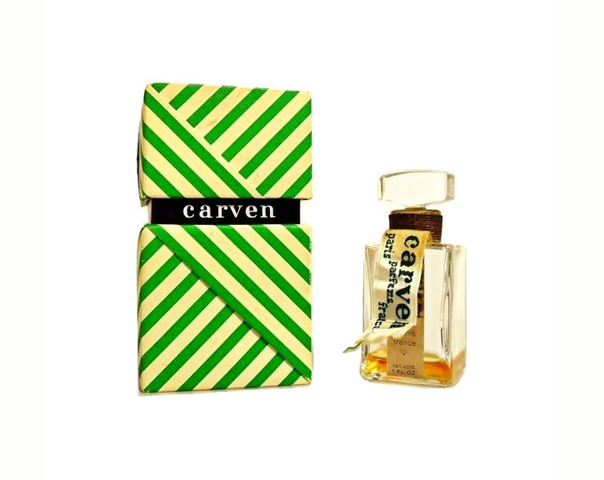 Vintage 1950s Ma Griffe by Carven 1 oz Parfum Perfume Bottle & Presentation Box Original Formula